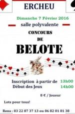 Concours de belote Dimanche 7 février 2016 à Ercheux