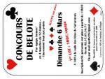 concours de belote le dimanche 6 mars 2016 à Serazereux (28)