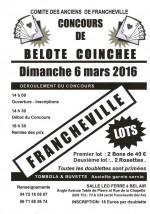 Concours de belote coinchée le 6 mars 2016 à 69340 Francheville