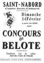 Concours Belote le 14 Février 2016 à 88200 Saint-Nabord