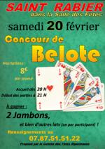concours de belote le 20 février 2016 à 24210 Saint Rabier