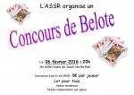 Concours de belote le 6 février 2016 à Sault les Rethel – Ardennes