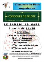 Concours de belote Samedi 19 Mars 2016 à Poitiers