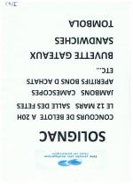 concours de belote à Solignac le 12 mars 2016 à 20 h