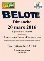 Concours de belote le 20 Mars 2016 à Clermont – Oise