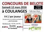 Concours de Belote le 12 mars 2016 à COULANGES-LES-NEVERS
