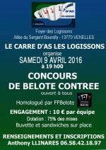 concours de belote contrée le 9 avril 2016 à 13770 Venelles
