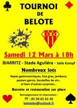 Tournoi de belote du Biarritz olympique le 12 mars 2016 à Biarritz