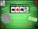 Concours de belote dimanche 17 avril 2016 à Carvin 62220