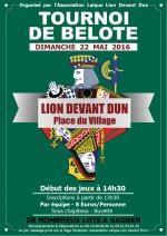 concours de belote le 22 Mai 2016 à 55110 Lion devant Dun