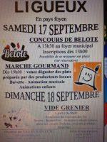 Concours de belote le 17 septembre 2016 à 33220 Ligueu