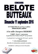 Concours de belote le 11 septembre 2016 à Butteaux 89360
