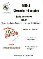 Concours de belote le 16 octobre 2016 à Médis -17