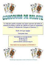 Concours de belote le 29 octobre 2016 à Ginestas