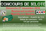 Concours de belote le 27 novembre 2016 à 61100 Montilly sur Noireau