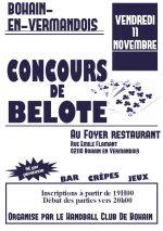 Concours de Belote vendredi 11/11/2016 à Bohain – Aisne