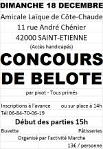 concours de belote le 18 décembre 2016 à 42000 Saint-Etienne