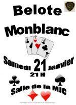 Concours de Belote à Monblanc le 21 Janvier 2017