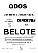 Concours de belote vendredi 6 janvier 2017 à Odos (65310)