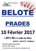 Concours de belote le 10 février 2017 à 07380 Prades