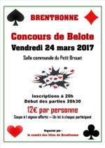 Concours de belote le 24 mars 2017 à 74890 Brenthonne