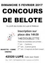 concours de belote le 5 février 2017 à 42520 Lupé