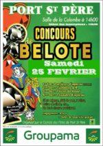 Concours de belote le 25 Février 2017 à Port Saint Père