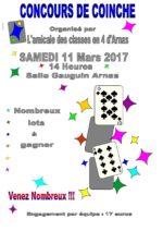 Concours de coinche le 11 mars 2017 à Arnas