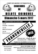 Concours de belote coinchée le 5 mars 2017