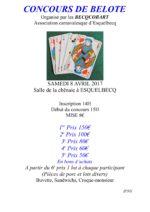 concours de belote le 8 avril 2017 à 59470 Esquelbecq