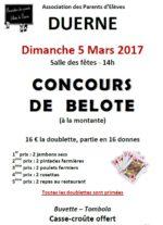Concours de belote dimanche 5 mars 2017 à 69850 Duerne