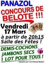 Grand Concours de belote le 17 Mars 2017 à Panazol (87)