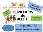 concours de belote dimanche 19 mars 2017 à Sillingy 74330