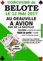 Concours de belote le 12 mai 2017 à Avion 62210
