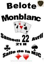 Concours de belote le 22 avril 2017 à Monblanc