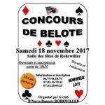 Concours de belote ROHRWILLER 18 novembre 2017