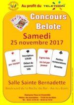 Concours de belote le 25 novembre 2017  à 73100 Aix-les-Bains