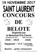 concours de belote le 19 novembre 2017 à 74800 Saint Laurent