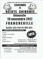concours de belote coinchée le 19 novembre 2017 à 69340 Francheville