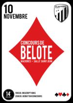 Concours de belote le 10 novembre 2017 à Mazières en Mauges (49280)